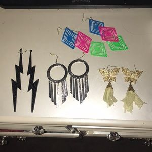 4 Pairs of FAB earrings